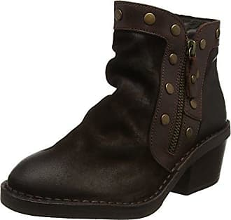 FLY London LOK - Botas estilo motero mujer, color Marrón (Sludge/dk.brown 007), talla 36 EU
