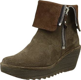 Fly London Yust, Bottes Femme, Marron (Camel), 35 EU