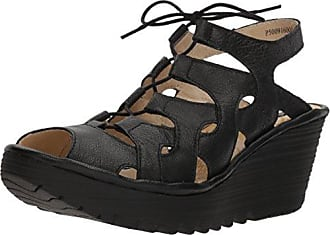 Yexa916fly, Sandales Bout Ouvert Femme, Marron (Sand), 38 EUFLY London
