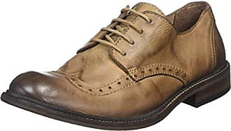 Hugh933fly, Brogues Homme, Marron (Mocca), 45 EUFLY London