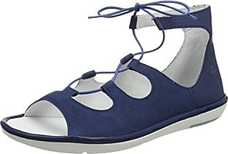 Yeki841fly, Sandales Bout Ouvert Femme, Bleu (Blue/Offwhite), 37 EUFLY London