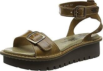 Kiba465Fly, Heels Sandals para Mujer, Marrón (Camel 001), 41 EU FLY London