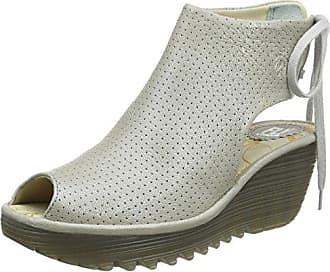 Femmes Ypul799fly Sandales, Argent Fly London