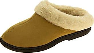 Damen coolers Pelz Gefüttert Faux Wildleder Warme Maultier Pantoffeln Lila EU 38-39 Footwear Studio g3J83mopY