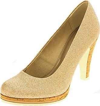 Marco Tozzi Damen Pumps Gold EU 40 Footwear Studio WZVTmZ9l6e