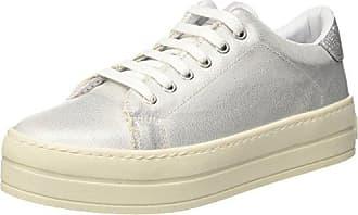 Fornarina Damen Maxi Sneaker, Silber/Schwarz, 39 EU