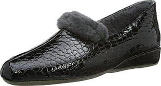 Heureusement 412097-12 - Pantoufles Chaudes Avec Femme Doublure En Cuir, Couleur Noir, Taille 43 Eu