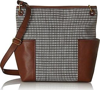 Damentasche? Fiona Crossbody, Womens Cross-Body Bag, Black (Black/white), 6.99x25.08x30.16 cm (B x H T) Fossil