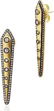 Freida Rothman Reverse Studded Kite Earrings fHrdV