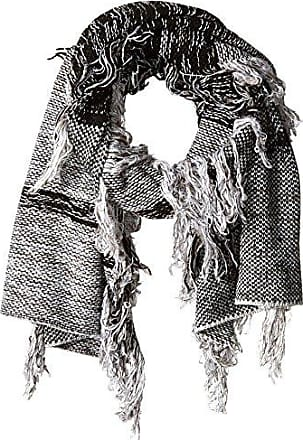 French Connection Women's Flora Fringe Knit Scarf, Monochrome Mix, One Size