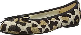 Henrietta Jaguar Ponyhair, Ballerines Femme - Beige - Beige (Leopard), 43French Sole