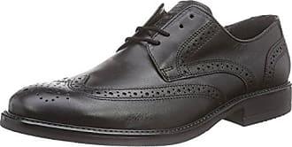 Fretz Men Robbie - Zapatos con Cordones de Cuero Hombre, Color Negro, Talla 41 1/3