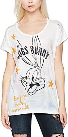 Burnout with Tweety, T-Shirt Femme, Multicolore (Sky Way 1516), 38Frog Box