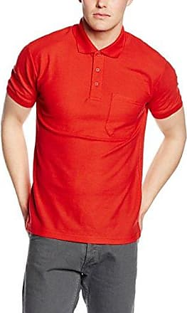 Fruit of the Loom Heavyweight 65: 35, Polo Homme, Rot (Red 400), M