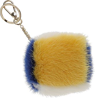 Furla Key Chain for Women, Key Ring On Sale, Blue, Fur, 2017, Universal Size