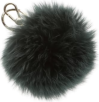 Furla Key Chain for Women, Key Ring On Sale, Black, Fur, 2017, Universal Size