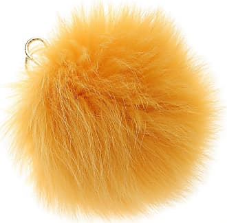 Furla Key Chain for Women, Key Ring On Sale, Orange, Fur, 2017, Universal Size