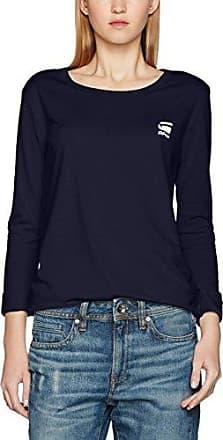 G-Star Base R T Wmn L/s, Camisa Manga Larga para Mujer, Gris (Grey Htr 906), Large