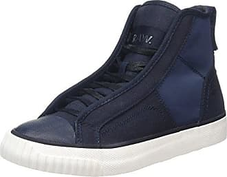 G-STAR RAW Damen Strett Slip on AOP Sneaker, Mehrfarbig (Milk/Dk Saru Blue AOP 9280), 39 EU