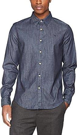 G-Star Bristum Shirt L/s, Camisa Vaquera Hombre, Armada (Sartho Blue 6067), Medium G-Star