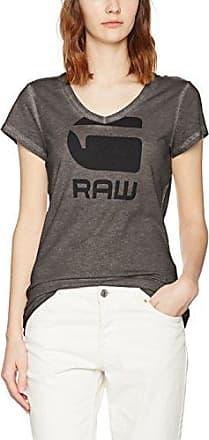 G-Star Phili SP Slim V T Wmn S/s, Camiseta para Mujer, Gris (Raven 976), X-Small