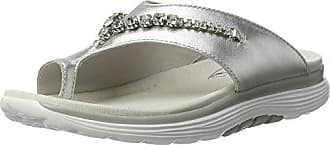 Shoes Damen Rollingsoft Zehentrenner, Silber (Silber (Deko) 10), 43 EU Gabor