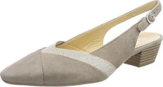 Gabor Basic, Zapatos de Tacón para Mujer, Marrón (Visone/Puder), 40.5 EU Gabor