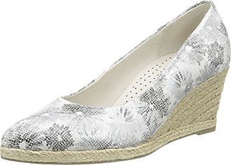 Gabor Zapatos de Tacón de Cuña Mujer, Plateado (41 Silber), 40 EU (7 UK)