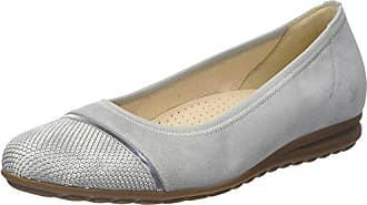 Gabor Shoes Comfort, Ballerines Femme, Argent (Platino Jute 63), 40.5 EU