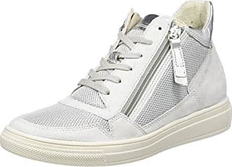 Gabor Shoes Comfort, Sneakers Hautes Femme, Blanc (Weiss/Silber 50), 41 EU