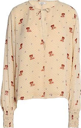Ganni Woman Floral-print Crepe De Chine Blouse Black Size 34 Ganni Discount Pick A Best I2WOxBVY