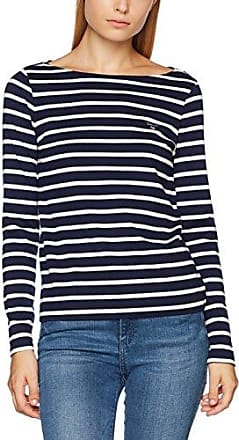O. Dotted C-Neck, Sweat-Shirt Femme, Bleu (Evening Blue), 8 (Taille Fabricant: X-Small)GANT