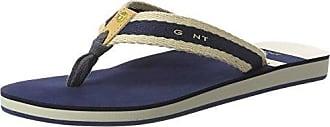 GANT Footwear Damen St Bart Zehentrenner, Silber (Silver), 40 EU