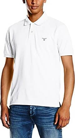 The Summer Piqué Rugger, Polo para Hombre, Blanco (White), Medium GANT