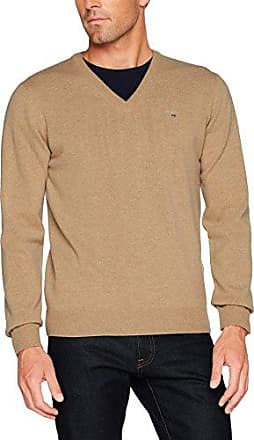 Maerz Merinowolle Pull-over Col polo Manches longues Homme - Beige - Beige (130) - 22 mVY8du6QFm