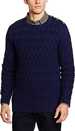 Yc. Textured Cotton Rope Crew, Pulls Homme, Bleu (Shadow Blue), MGANT