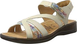 Ganter Monica, Weite G 5-202511-02000 - Sandalias de cuero para mujer, color blanco, talla 37.5
