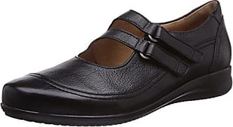 Ganter SENSITIV HELGA, Weite H - Zapatos de cordones para mujer, color schwarz (schwarz 0100), talla 38.5