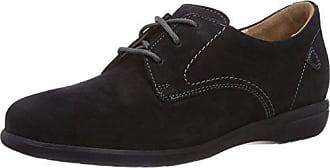 Ganter FRANZI, Weite F - zapatos con cordones de cuero mujer, color gris, talla 39