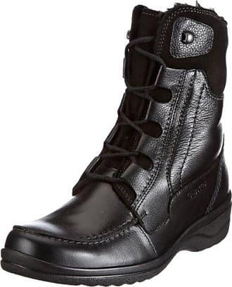 Ankle Boot Schnür Stiefelette, Botas Desert para Mujer, Negro (Black 0001), 40 EU Fred De La Bretoniere