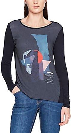 Garcia Jeans Garcia L70206, Camiseta de Manga Larga para Mujer, Azul (Dark Moon 292), 36
