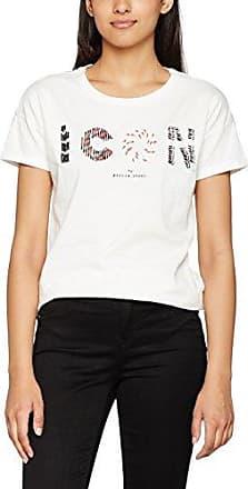 Garcia Jeans Garcia M80003, Camiseta para Mujer, Azul (Cloudy Sky 2485), 42 (Talla del Fabricante: L)