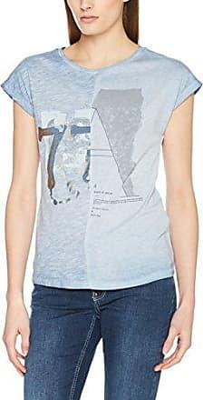 Garcia Jeans Garcia C70007, Camiseta para Mujer, Blanco (Off White 53), 40 (Talla del Fabricante: M)