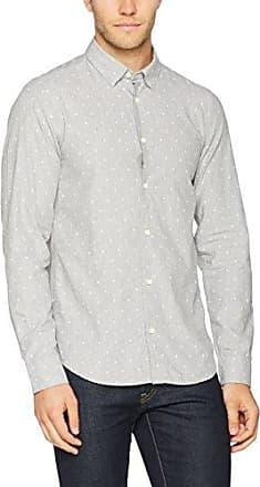 Garcia S61031, Camisa para Hombre, Gris (Froth), S Garcia Jeans
