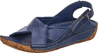 Gemini 32024-02 Schuhe Damen Sandalen Sandaletten Leder, Schuhgröße:38;Farbe:Blau
