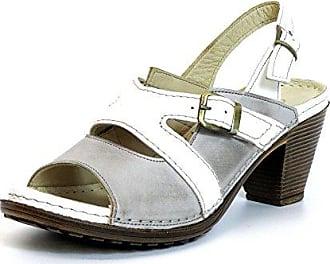 Damen Sandaletten Beige-Kombi (Grau) 032208-02/248 Gemini irXnfheZg