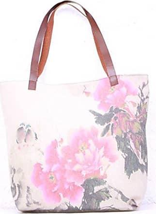 Other, Damen Tote-Tasche beige 5 bags 1each Generic