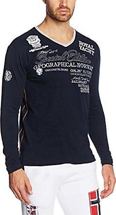 Jindwiller Men LS, Camiseta de Manga Larga para Hombre, Azul Oscuro, S Geographical Norway