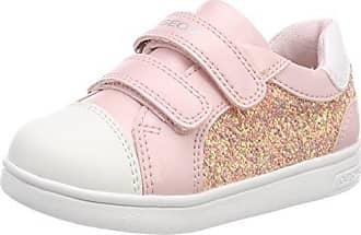 Geox Mädchen JR Ciak Girl B Hohe Sneaker, Weiß (White/Lt Pink), 34 EU