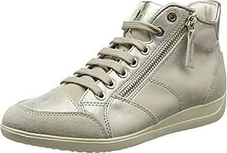 Damen D Myria A Sneaker, Gold (Lead/Lt Taupe), 40 EU Geox